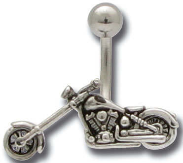 Piercing nombril moto