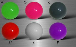 Boules  acryliques couleurs