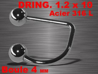 D-Ring levre acier