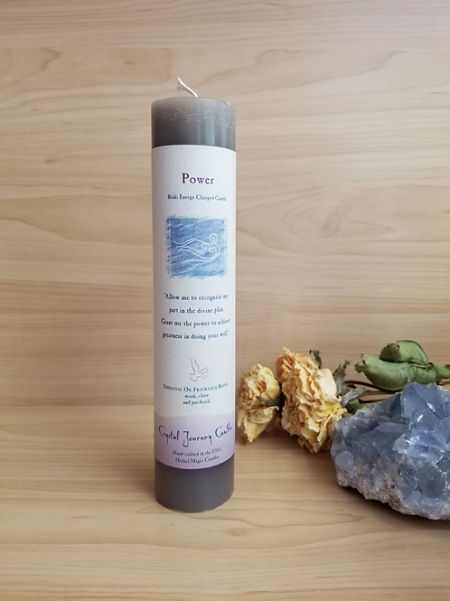 Crystal Journey Candles- Pillar Power