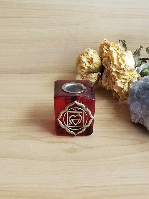 Chakra Candle Holder Red