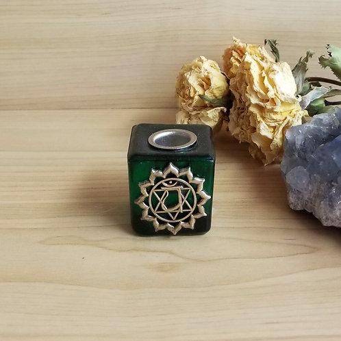 Chakra Candle Holder Green
