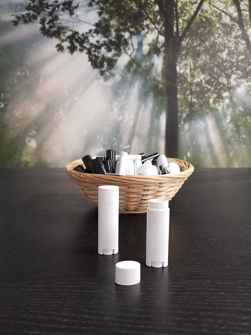 White Oval Chapstick Container