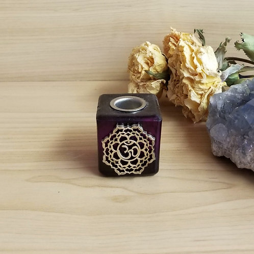 Chakra Candle Holder Purple