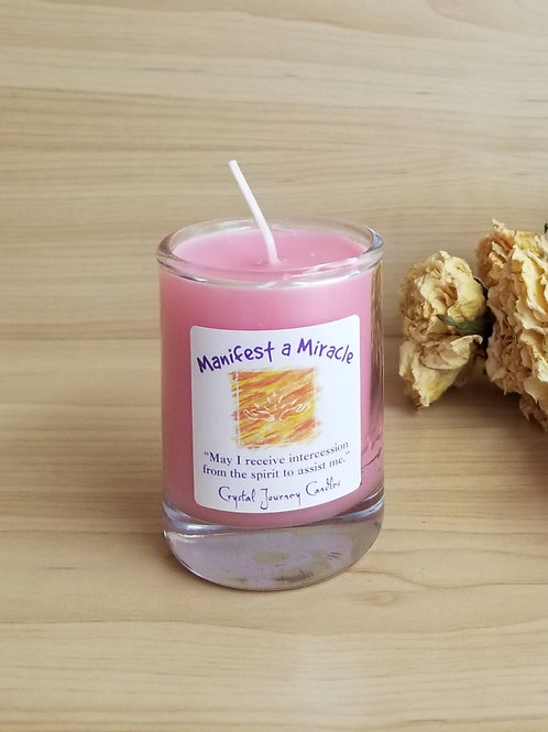 Crystal Journey Candles- Soy Manifest A Miracle