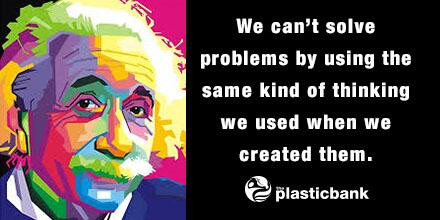 "Einstein quote: ""We can's solve problems by using the same kind of thinking we used when we created them."