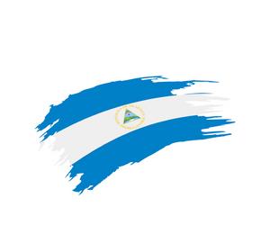 The flag of Nicaragua