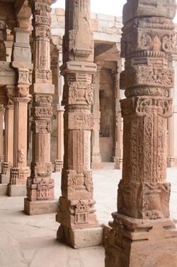 Pillars at Qutub Minar Complex