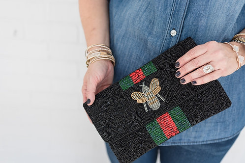 Beaded Bee Clutch