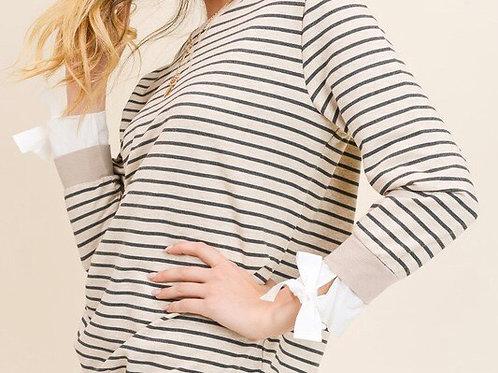 Cassie Striped Sweatshirt