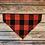 Thumbnail: The Red Buffalo Check Dog Bandana