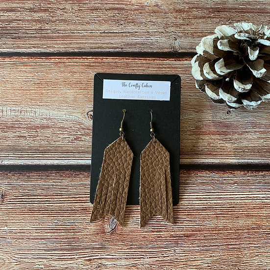 Chocolate Bold Frill Earrings