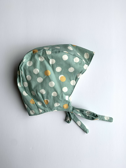 Organic Polka Dot Baby Bonnet