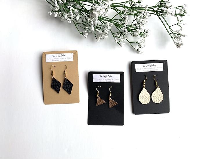 Vegan Leather Earrings