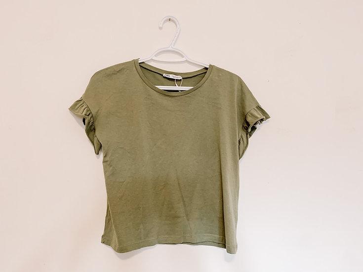 Olive T-Shirt - Women's Medium - Zara