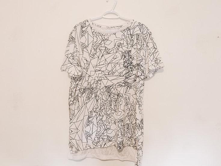 Scribbled T-Shirt - Women's XL - Guess