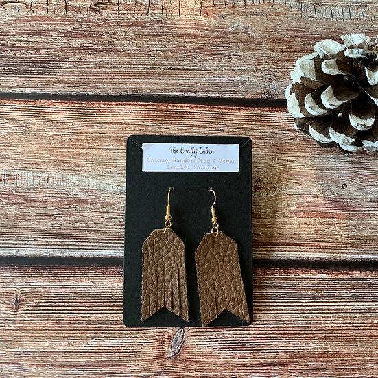 Chocolate Geometric Frill Earrings
