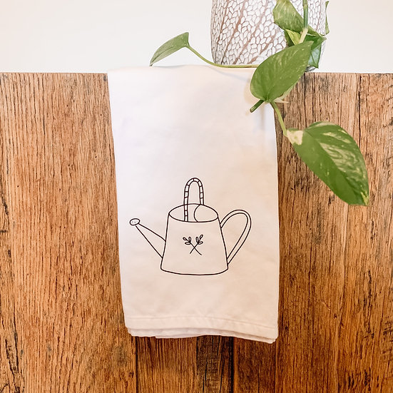 Watering Can Tea Towel