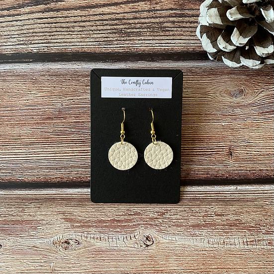 Cream Full Moon Earrings