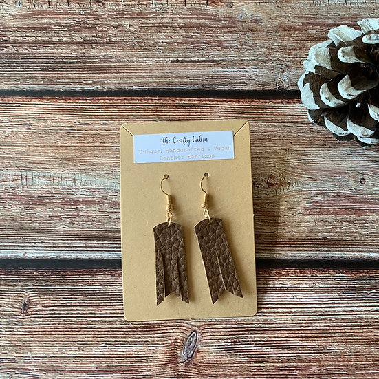 Chocolate Frill Earrings