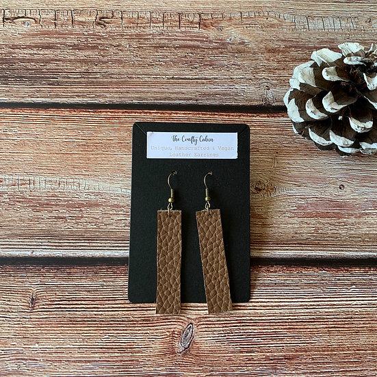 Chocolate Bold Bar Earrings