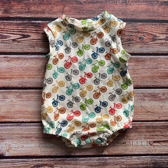 Organic Bicycle Bubble Baby Romper