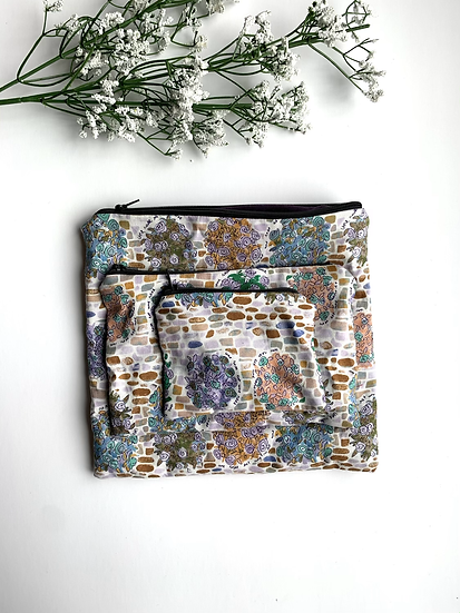 Nested Rose Pouch Trio