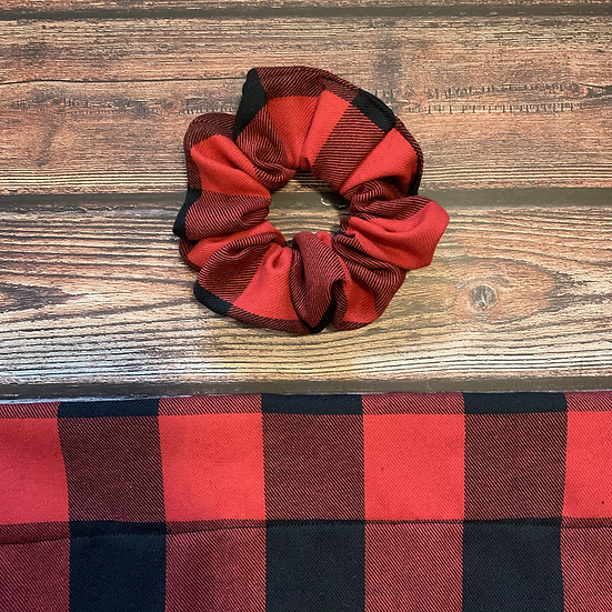 The Classic Red Buffalo Check Scrunchie