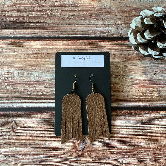 Chocolate Arched Frill Earrings
