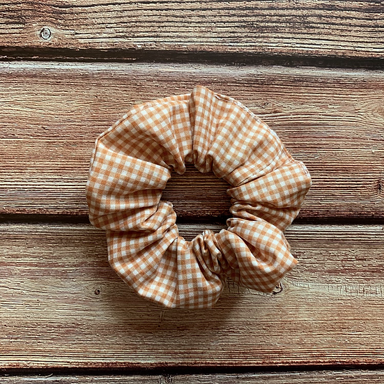 The Rusty Gingham Scrunchie