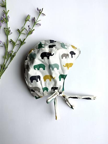 Organic Elephant Baby Bonnet