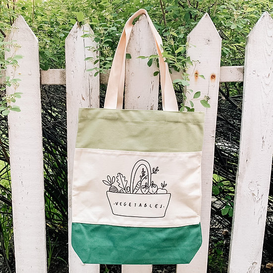 Vegetables Canvas Tote