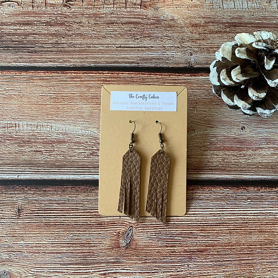 Chocolate Simple Frill Earrings