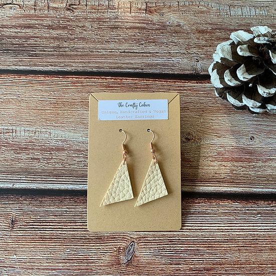 Cream Scalene Triangle Earrings