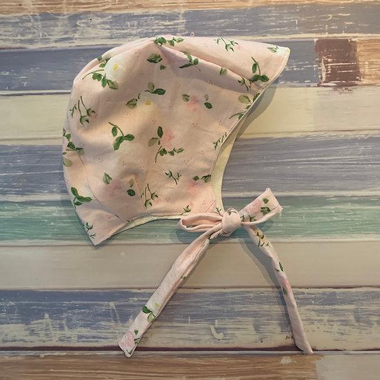 Pink Floral Baby Bonnet
