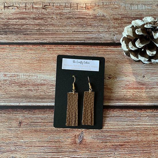 Chocolate Bar Frill Earrings