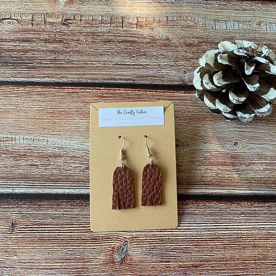 Auburn Mini Frill Earrings
