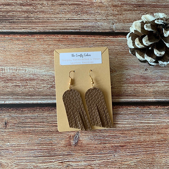 Chocolate Rounded Angled Frill Earrings