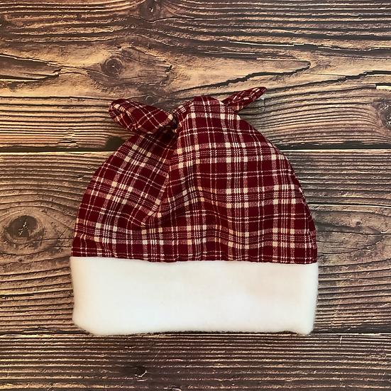 Winter Lumberjack Top-Knot Baby Hat