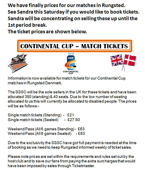 Continental Cup Tickets!!!!!
