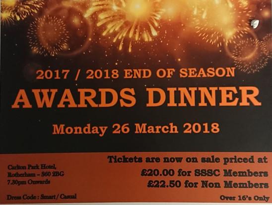 End of Season Awards 2017/18 Dinner