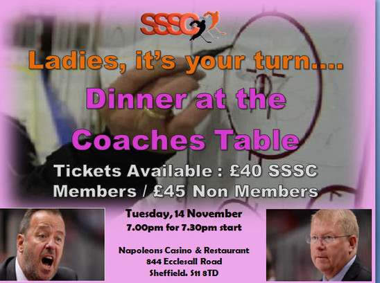 Ladies Dinner at the Coaches Table