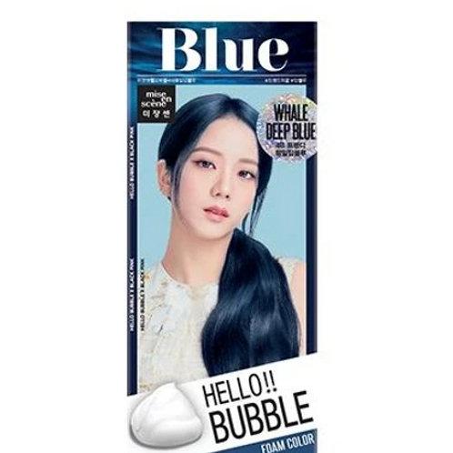 Mise En Scene Hello Bubble Hair Foam - Whale Deep Blue 4B