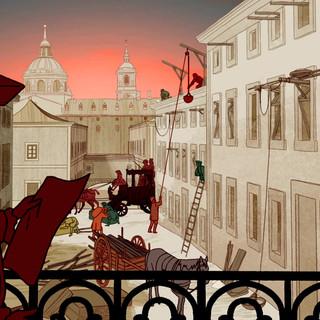 Carlos III, Escorial en construcción.