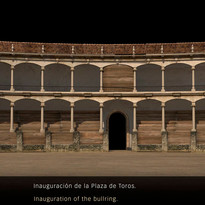 Recreación 3D del aspecto original de la plaza de toros