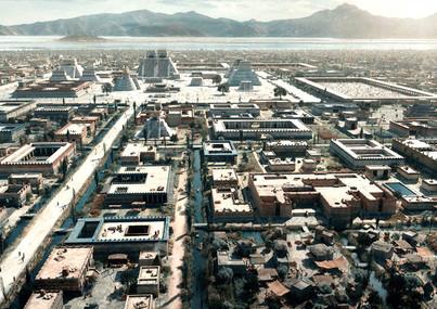 Tenochtitlan. Centro ceremonial y alrededores.