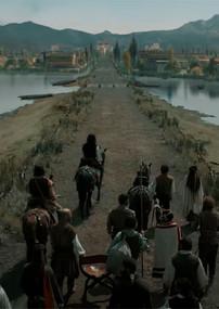 Tenochtitlan. Llegada a la ciudad. Calzada