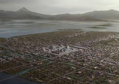 Tenochtitlan vista áerea