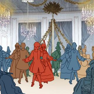 Carlos III, baile en el Pardo.