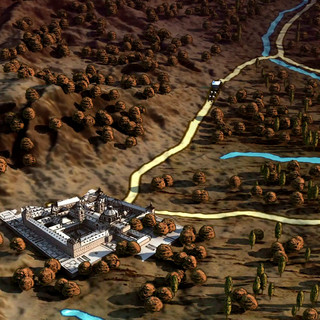 CarlosIII mapa 3D, Escorial.